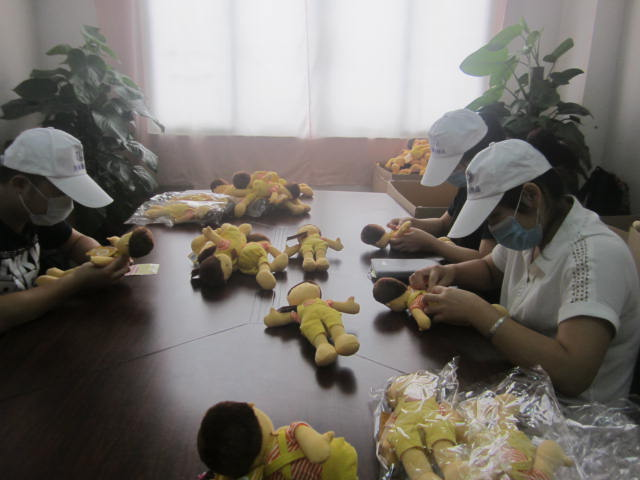 Full inspection of plush toys
